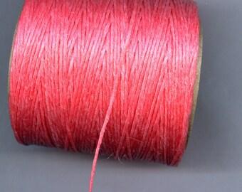 Hot Pink Waxed Cord Thread 5 yards