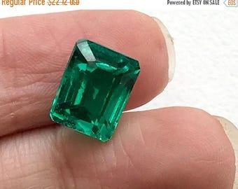 ON SALE 55% 12.95 CTW Green Hydro Quartz Emerald Cut stone, Loose Green Hydro Quartz, Green Ring Size Gemstone, 11x12.5mm - Ds271