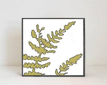 woodland nursery art,  forest fern print, children room, gender neutral baby, forest decor, nursery decor, woodland, redtilestudio