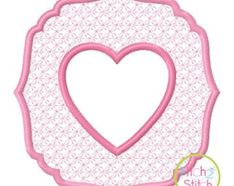 Embossed Heart Embroidery design for machine embroidery, INSTANT DOWNLOAD