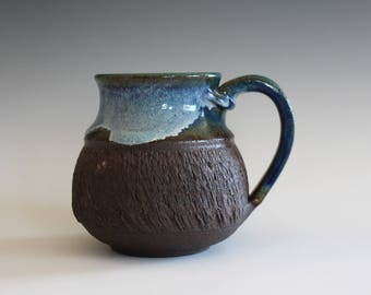 Unique Coffee Mug, 16 oz, handmade ceramic cup, handthrown mug, stoneware mug, pottery mug unique coffee mug ceramics and pottery