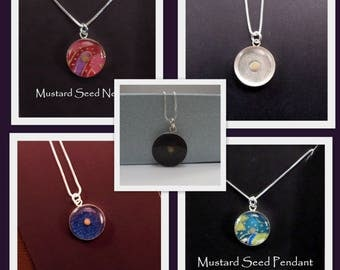Mustard Seed Necklace / Sterling Silver / Baptism Gift / Christian gift / Faith / Graduation Gift / Gift of Faith / Gift for a sick friend