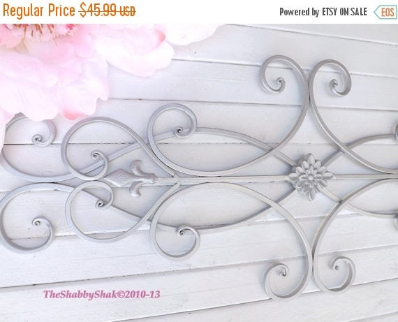 ON SALE Wrought Iron Wall Decor / Indoor /Outdoor / Cottage