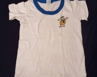Fred Flintstone Ringer Vintage 1980's Boy's Hanes ShowToons T-Shirt 6