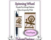 Peyote Beading Pattern (Pen Wrap/Cover)-Spinning Wheel