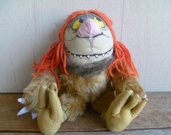 "RARE  Where The Wild Things Are Plush Stuffed Monster ""Sipi"" Maurice Sendak   Vintage 1980"