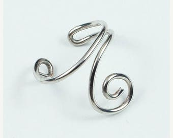 SALE - Single Spiral Ear Cuff - Silver