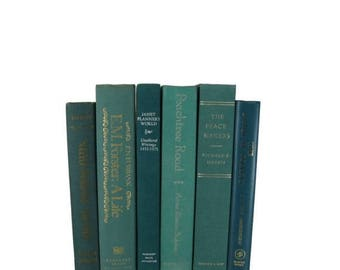 ON SALE NOW Vintage Green  Decorative Books , Vintage Book Sets , Photo Props , Vintage Wedding Decor