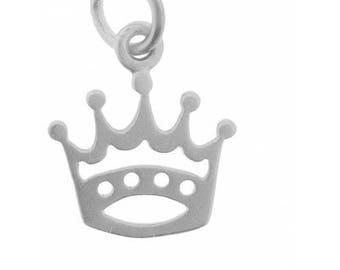 Sterling Silver Princess Crown Charm - Tiara Charm
