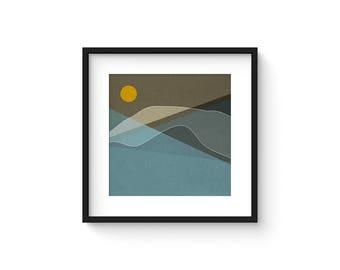 LANDSCAPE & BEYOND no.99 - Abstract Modern Minimalist Landscape Mid Century Style Art Print