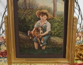 Vintage Gold Wooden Swing Frame, picture frame