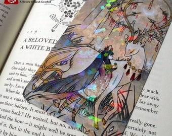 The Wish PRISM Bookmark / Kitsune Fox Deer Yokai / Japanese Asian Style Art