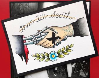 True Til Death Straight Edge XXX PRINT or ORIGINAL Painting by Michelle Kent
