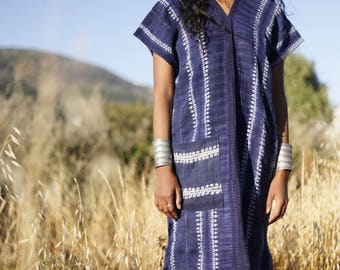 Hill Tribe Indigo Hemp Dress Plant Dye