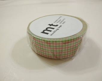 MT Washi Tape - Red and Green Checkered