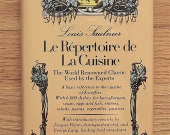 French Cooking Book, Cooking Dictionary Le Repertoire de La Cuisine Louis Saulnier Jacques Pepin George Lang, How to Cook Reference Hardback