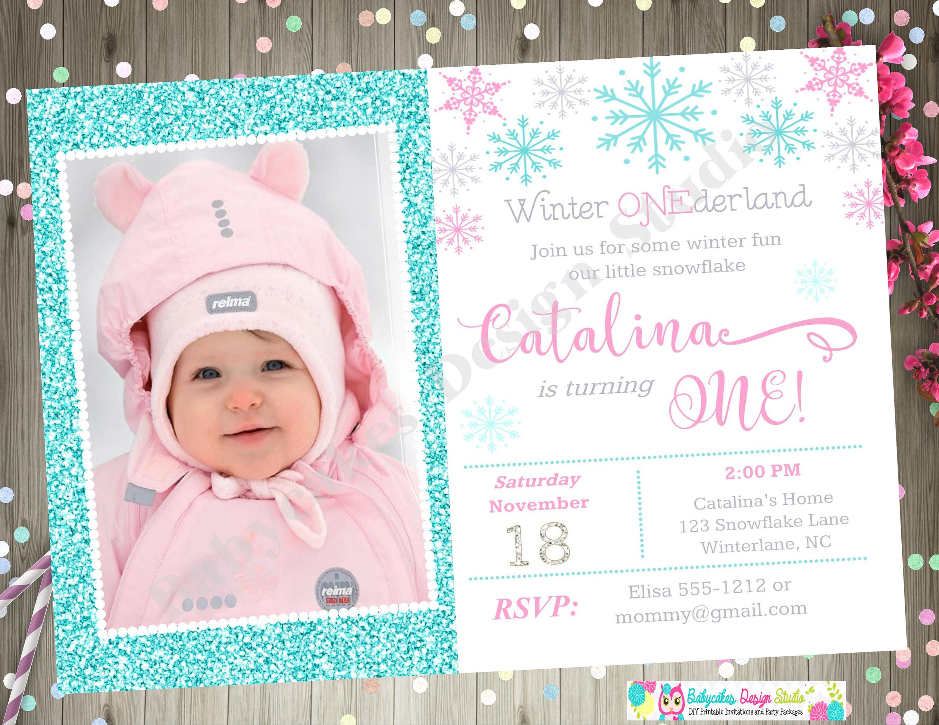 Winter Onederland Party Invitations free sample resume formats