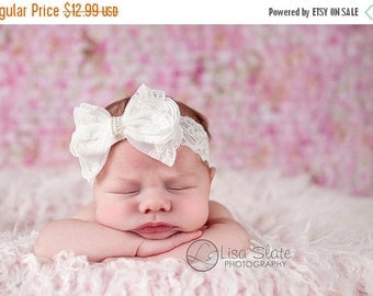 12% off lace headband, Baby headband, newborn headband, adult headband, baby headband and photography prop Sweetness lace bows headband
