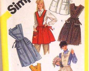 Vintage Apron Pattern by Simplicity - #6173 - Medium (14-16)