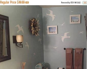 20% off Seagull birds- Vinyl Lettering wall words quotes graphics decals Art Home decor itswritteninvinyl
