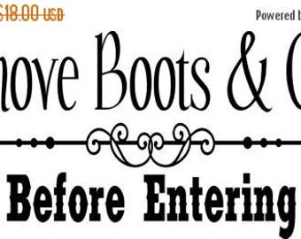 20% OFF Remove boots and Guns- Vinyl Lettering wall words graphics  decals  Art Home decor itswritteninvinyl