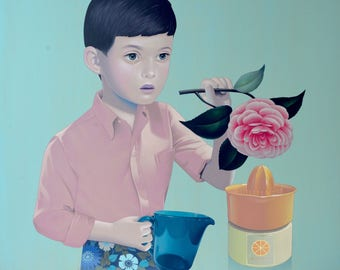 """Original painting by Sean Mahan """"Rendered Normal"""""""