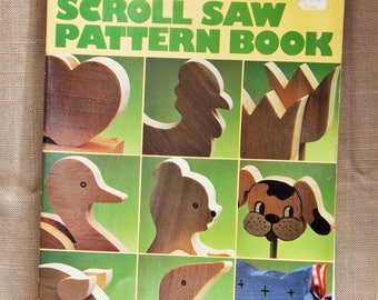 Scroll Saw Pattern Book, Patterns for Wood Cutouts, Patterns for Wood Letters, Animals, puzzles, Fridge Magnets, Jewelry, Country Farmhouse