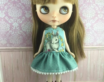 Blythe Drop Waist Dress - Little Bunny Rabbit