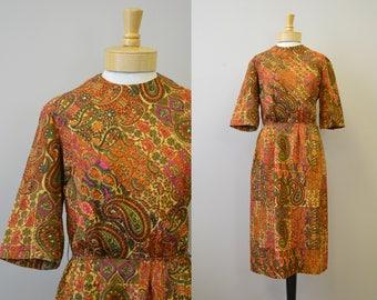 1960s R&K Autumn Paisley Dress