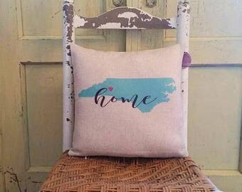 State pillow, New homeowner gift, Home pillow