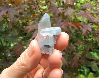 The Rarest Crystal: SELF HEALED Cluster Blue Tara Crystal, Indigo Quartz, Blue Phantom Amphibole, Dakini Crystal // Bahia, Brazil OOAK