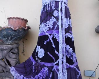 20%OFF vintage bohemian gypsy hippy lagenlook tiered dress...smaller to firmer 38'' bust..