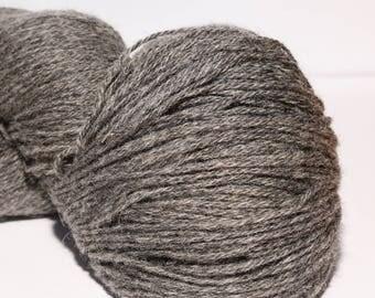 100% Wool Yarn , Fingering 3ply, dk, Mega-Yardage, Kauni Yarn, Dark Grey 8/3