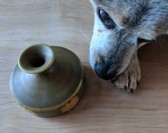 Mid Century Modern Small Stoneware Vase Made in Japan