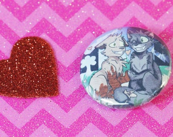 Twigpaw and Finpaw - Warrior Cats 1.25 in Pin Back Button