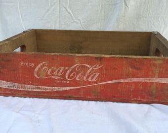 Vintage Coca Cola Crate Storage Box