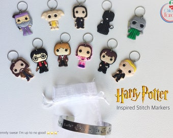 Set of 11 Harry Potter figures stitch markers for crochet and knitting - gift envelope available