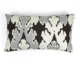 ON SALE Kelly Wearstler Bengal Bazaar 14 X 24 Pillow in Graphite (Both Sides)