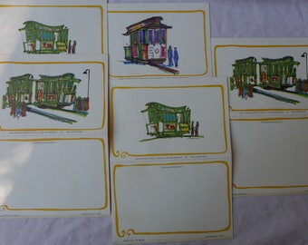 Vintage San Francisco Cable Cars Folding Notes / 1967 / Kellington