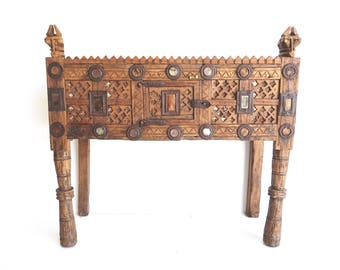 Damchiya Tribal Console Small Cabinet Shipping Included in the U.S.