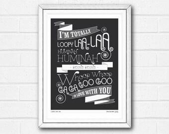 Valentines Print, Love Print, Wedding Gift, Anniversary Print, I Love You Print, Typography Print, Valentines Day Gift, Romantic Art