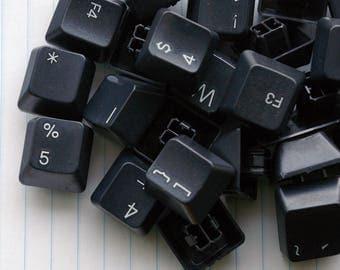 10 Black Keyboard Keys