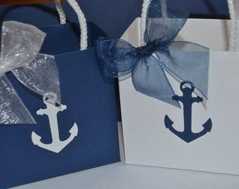 Nautical Party favor bags anchor with rope handles
