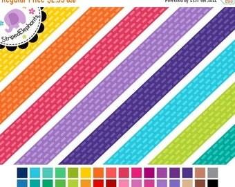 40% OFF SALE Digital Clip Art - Dashed Digital Ribbons - Instant Download - Commercial Use