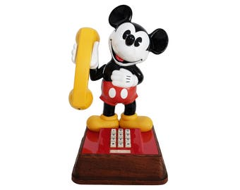 Vintage Mickey Mouse 1976 Walt Disney Collectible Retro Telephone, Made in USA
