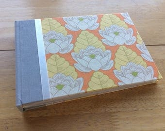 Tangerine Lotus Flower Photo Album/ 5x7 Photo Album/ 4x6 Photo Album