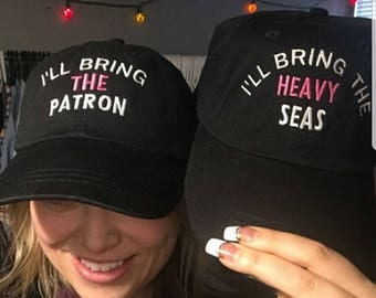 Free Shipping, I'll bring the alcohol, bad decisions, bail money, girls trip, night out, bachelorette, baseball custom party drinking hat