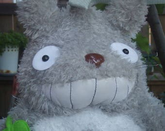 Vintage Original Totoro Back Pack. Very Soft Grey and White Plush Pack. Plushy With Lots of Room in the Body. Pre Loved.