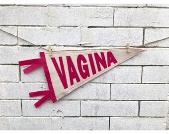 Handmade Vagina Pennant Flag Freakflag