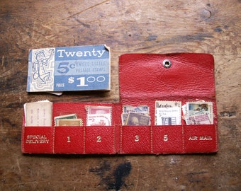 Vintage Tiny Stamp Booklets with Old Postage Stamps
